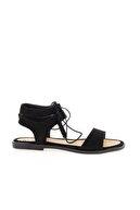 Bambi Siyah Süet Kadın Sandalet L0652071065