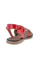 Bambi Hakiki Deri Mavi Yeşil Kadın Sandalet K05685161903