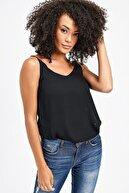 Jument Queen Ip Askılı Bluz -siyah