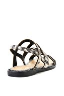 Bambi Siyah Beyaz Kadın Sandalet L0652071407