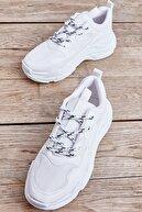 Bambi Beyaz Kadın Sneaker L0601013909