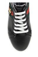Derigo Siyah Yıldız Kadın Casuel Ayakkabı 221701