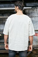 Sateen Men Erkek Ekru Denim T-Shirt