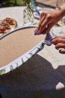 E-Sanat Evi 8'li Hasır Sepet Desenli Supla Amerikan Servis
