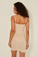 C City Kadın Ten Göğsü Açık Elbise Korse C15060