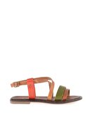 Bambi Taba/yeşil/taba Kadın Sandalet L0685081403