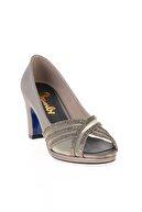 Bambi Platin Kadın Abiye Ayakkabı L0501036809