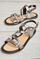 Bambi Platin Kadın Sandalet L0652084539
