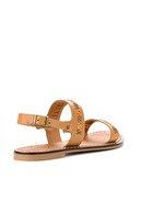 Bambi Hakiki Deri Taba Kadın Sandalet L0602809403