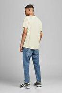 Jack & Jones Erkek Sarı Jorchristensen Tee Ss Crew Neck T-Shirt