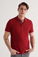 Avva Erkek Bordo Polo Yaka Düz T-shirt A11b1174