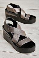 Bambi Platin Kadın Sandalet L0658555509