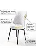 Canisa Concept Dexa Serisi Füme Renk Sandalye Mutfak Sandalyesi, Yemek Sandalyesi Ayaklar Siyah