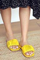 Pembe Potin Kadın Sarı Sandalet