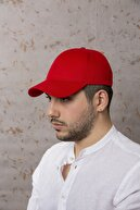 ÜN ŞAPKA Kırmızı Şapka- Arkası Ayarlanabilir Şapka