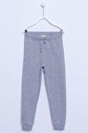 Silversun Kız Çocuk Antrasit Renkli Sweat Pantolon Örme Paçası Ve Beli Lastikli Cepli Eşofman Altı   jp-313340