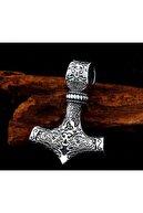 daisybydaisy Paslanmaz Titanyum Alaşım Çelik Iskandinav Thor Kolye