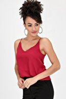 Jument Queen Ip Askılı Bluz - Kırmızı
