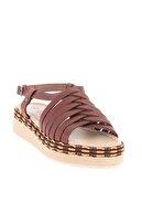 Bambi Hakiki Deri Taba Kadın Sandalet L0808500603