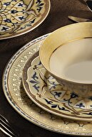 Kütahya Porselen Bone Kalipso 62 Parça Yemek Takımı 10514
