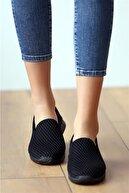Beyond  Kadın Siyah Aqua Ortopedik Memory Foam Rahat Taban Günlük Spor Babet Ayakkabı