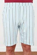 TRENDYOL MAN Bordo Baskılı Örme Pijama Takımı THMSS21PT0447