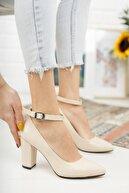 Nirvana ayakkabı Kadın Ten Cilt Yüksek Topuklu Baletli Ayakkabı
