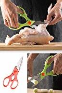 Helen's Home Çok Fonksiyonlu Paslanmaz Çelik Mutfak Makası Pratik Börek Tavuk Kesici Ceviz Kırıcı Makas