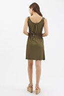 Pattaya Kadın Örme Sıfır Kollu Mini Elbise