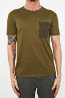 TRENDYOL MAN Haki Erkek T-Shirt TMNSS21TS2097