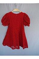 DANZİMO Çocuk Kırmızı Elbise