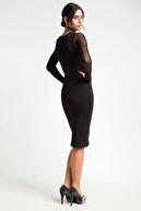 Laranor Tül Detay Dudak Yaka Elbise