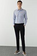 Network Erkek Slim Fit Lacivert Desenli Pantolon 1078731