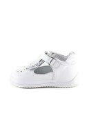 Minipicco Kız Bebek Beyaz Deri Ortopedik Ilk Adım Ayakkabı