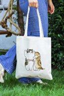 Çınar Bez Çanta Cats Size Baskılı Bez Çanta