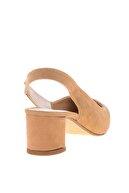 Bambi Vizon Süet Kadın Klasik Topuklu Ayakkabı K01503721072