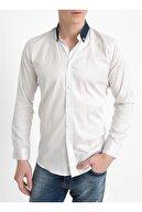 Efor G 1405 Slim Fit Beyaz Klasik Gömlek
