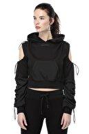 Ruck & Maul Kadın Siyah Sweatshirt 21060 9000
