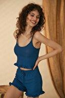 HAKKE Kadın Pijama Takımı Askılı Fırfırlı