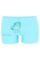 biyokids Kız Çocuk Boxer 5 Li Paket Karışık Renk Unicorn Baskılı Boxer