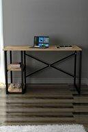 Morpanya Çalışma Masası Metal Laptop Bilgisayar Masası Çalışma Ofis Masası 2 Raflı Atlantik Çam