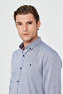 Avva Erkek Koyu Mavi Oxford Düğmeli Yaka Slim Fit Gömlek A02b2287