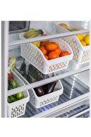 Yellowish Büyük Boy Buzdolabı Sepeti Şeffaf 3 Adet Dolap Içi Sebze Meyve Buzdolabı Düzenleyici Raf I Sebzelik