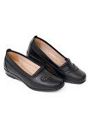 MelikaWalker Full Comfort Ortopedik Taban 7 Taşlı Siyah Anne Ayakkabısı