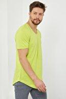 Tarz Cool Erkek Fıstık Yeşili Salaş T-shirt-tcps001r55s