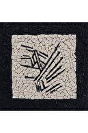 Bahar Güleç Soyut Istanbul Ii, 15x15, Ahşap Üzerine Kil Taşı Mozaik