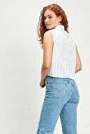 Levi's Kadın Alina Tie Shirt Amber Stripe Mavi Kadın Gömlek 8537800010