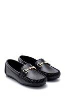 Derimod Kadın Siyah Toka Detaylı Loafer Ayakkabı
