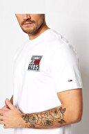 Tommy Hilfiger Erkek Beyaz Regular Fit T-Shirt Dm0dm09485