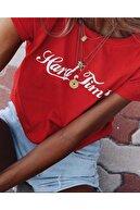 WRSTBHVR Hard Times Kadın Kırmızı T-shirt